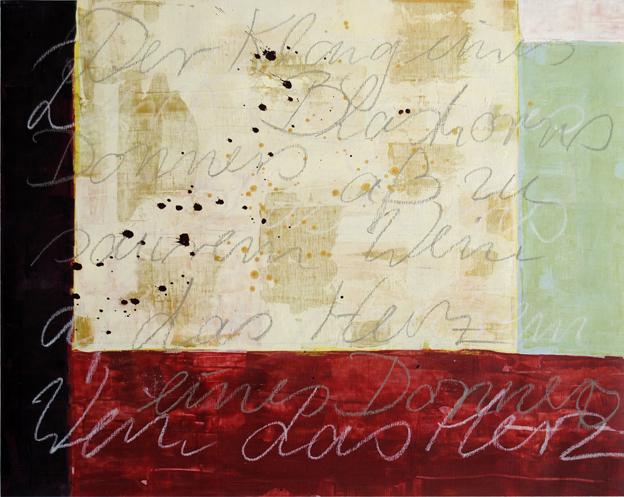 blog der klang eines blashorns I, 2011, acryl, 50 x 62 cm