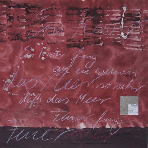 blog ein kater fing an II, 2011, leimfarben, 40 x 40 cm