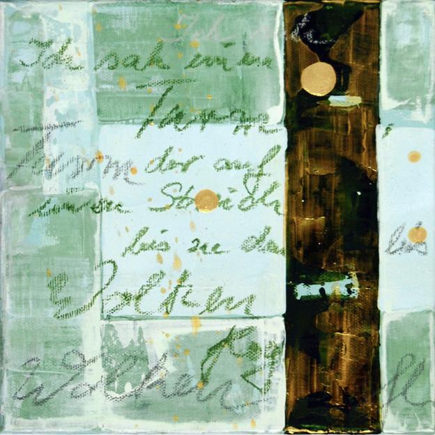 blog ich sah einen turm, 2012, acryl, 20 x 20 cm