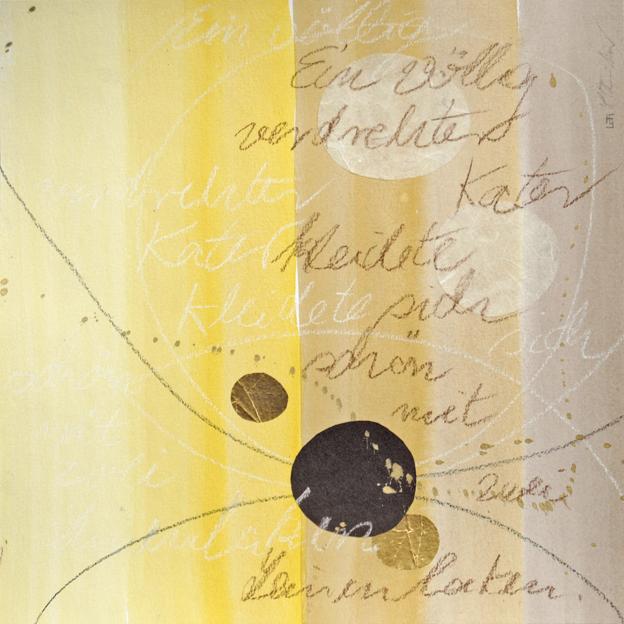 blog ein völlig verdrehter kater I, 2013, aquarell, 30 x 30 cm