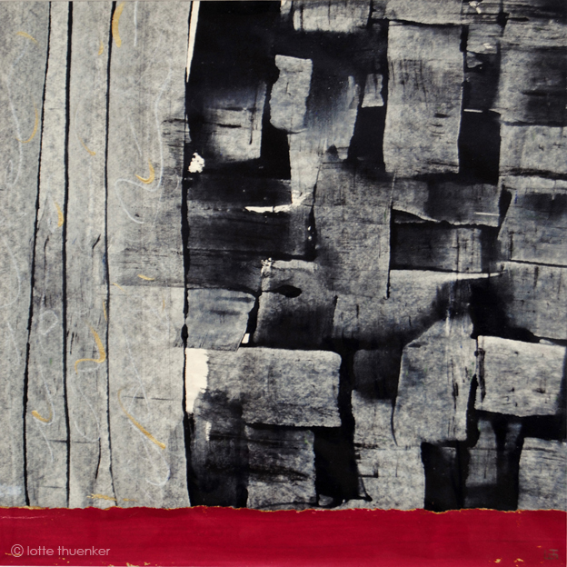 lotte thuenker blog mumtaz mahal 01, 2012, leimfarben, acryl, pastellkreide, 30 x 30 cm
